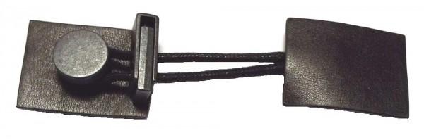Bekleidungsverschluss schwarz mit Kordelstopper 120 x 30 mm