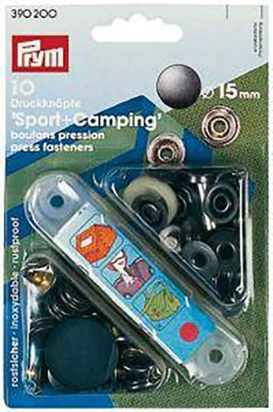 NF-Druckknopf Sport & Camping MS 15 mm brüniert