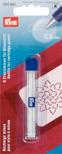 Ersatzminen für Minenstift Ø 0,9 mm weiß