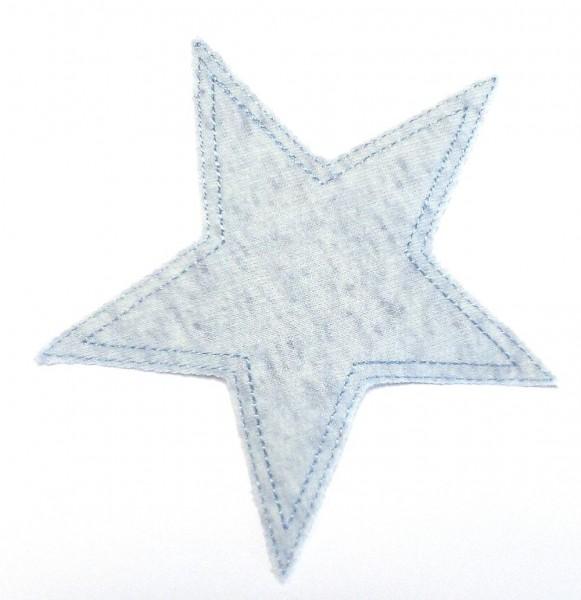 Patches/Bügelflicken Stern Jersey blau 11,5 cm