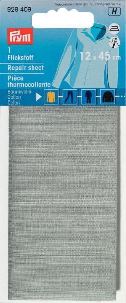 Flickstoff CO (bügeln) 12 x 45 cm hellgrau