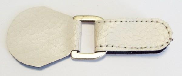Bekleidungsverschluss/Taschenverschluß weiß antik mit Klettband