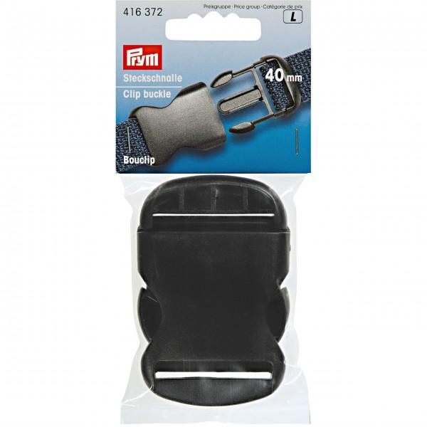 Steckschnalle 40 mm schwarz