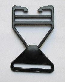 Steckschnalle schwarz Steg 35 mm