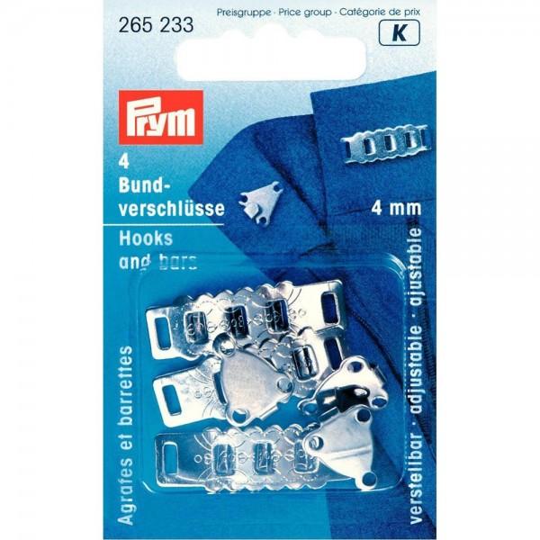 Rock- und Hosenbundverschlüsse ST 4 mm silberfarbig