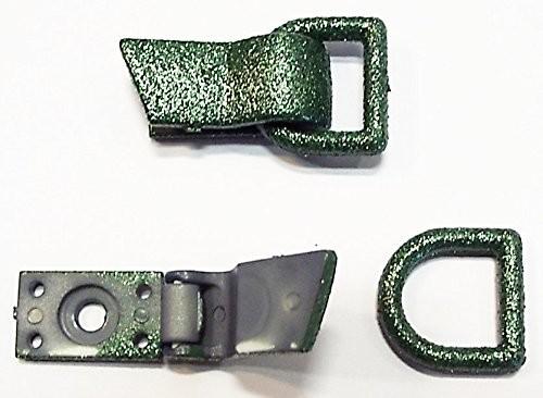 Bekleidungsverschluss grün mit Glimmer - Effekt 35 x 20 mm