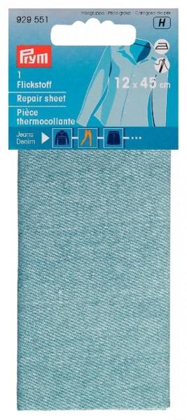 Flickstoff Jeans aufbügelbar 12 x 45 cm hellblau