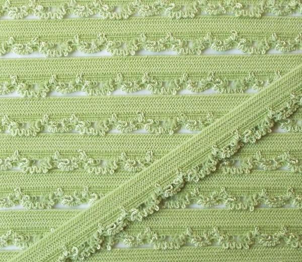 Wäschespitze elastisch 11 mm zart lind grün