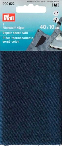 Flickstoff Köper (bügeln) 12 x 45 cm blau