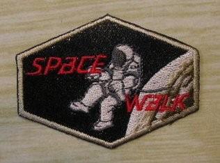 """Applikation Astronaut """"space walk"""" 60 x 45 mm"""