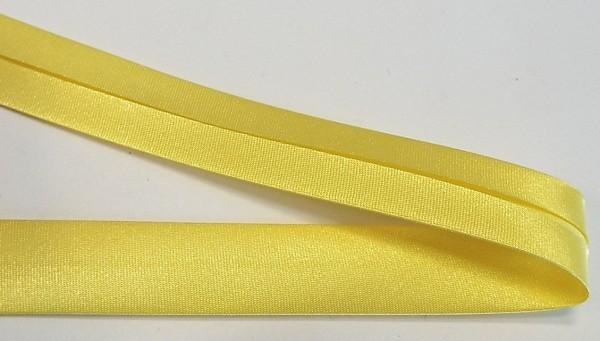 Satinschrägband vanille / gelb 20 mm