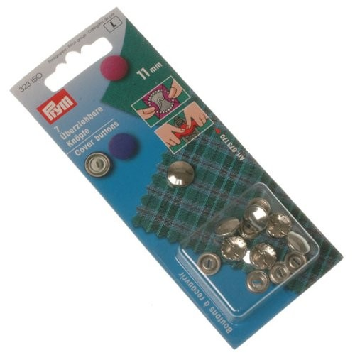 Überziehbare Knöpfe ohne Werkzeug 11 mm silber