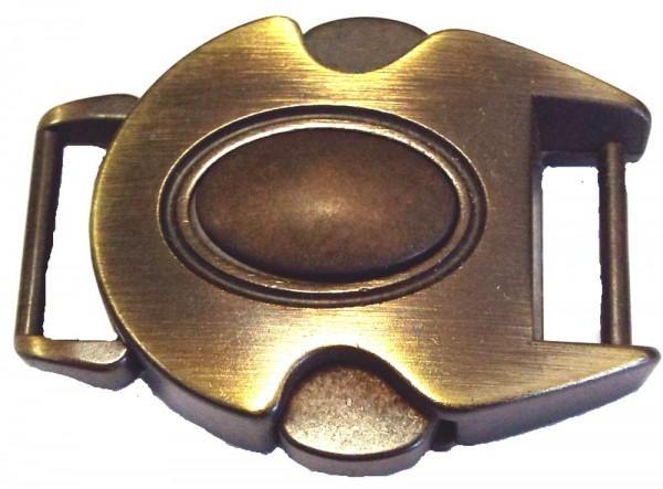 Steckschnalle alt gold 15 mm