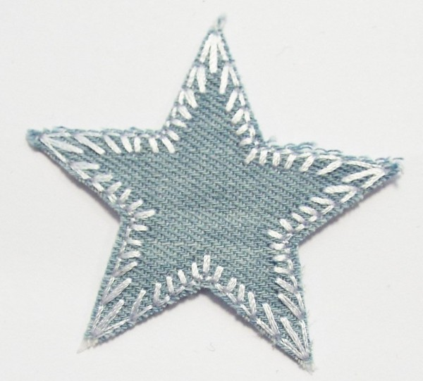 Patches Stern Jeans, klein 50 mm (hell blau)