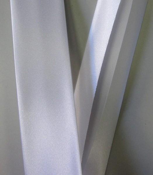 Satinschrägband weiß 30 mm