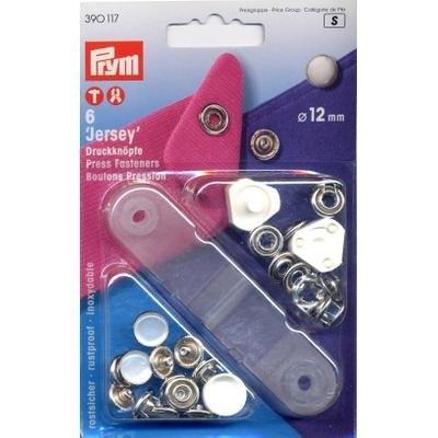 NF-Druckknopf Jersey MS Perlkappe 12 mm