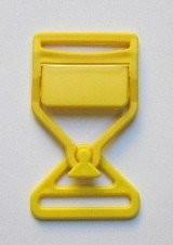 Steckschnalle gelb Steg 35 mm