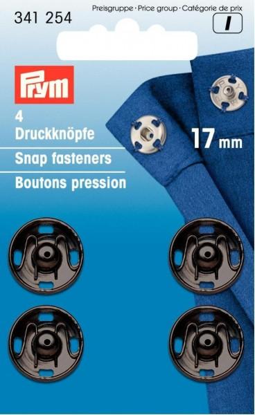 Annäh-Druckknöpfe MS 17 mm schwarz