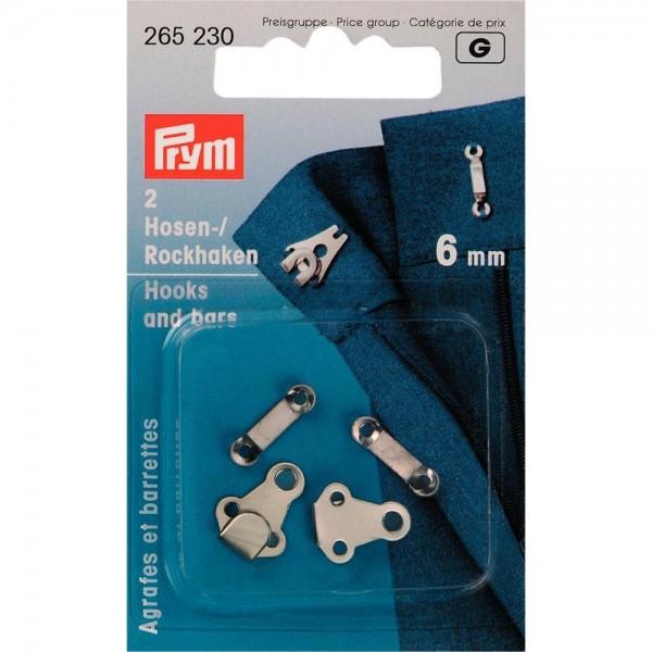 Hosen/Rockhaken und Stege ST 6 mm silberfarbig