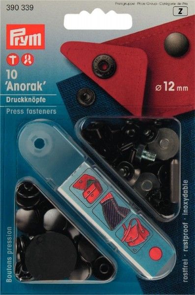 NF-Druckknopf Anorak MS 12 mm brüniert