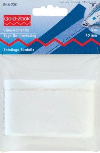 Vlies-Kantenfix (bügeln) 40 mm weiß