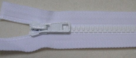 RV weiß, 058 cm Kunststoff teilbar Krampe