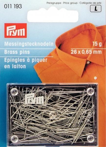 Stecknadeln MS 0,65 x 26 mm silberfarbig