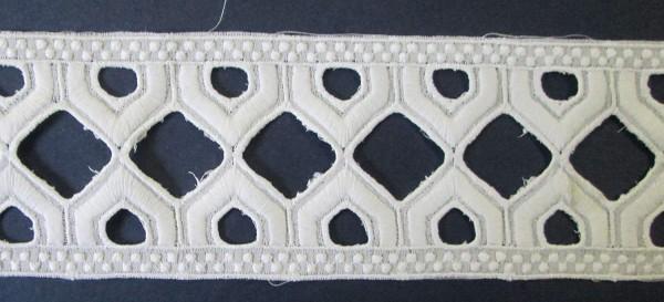 Baumwollspitze in weiß 55 mm