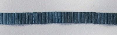 Plissee Borte metallic blau 10 mm