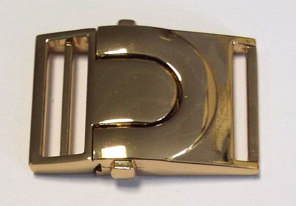 Steckschnalle 25 mm (gold)