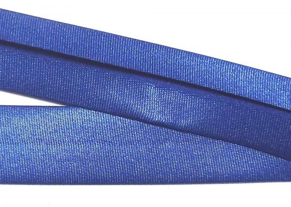 Satinschrägband königsblau / blau 20 mm