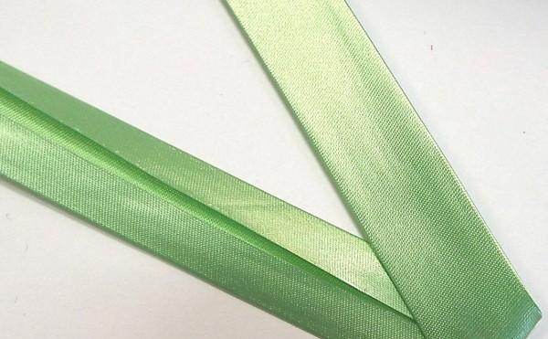 Satinschrägband lind grün 18 mm