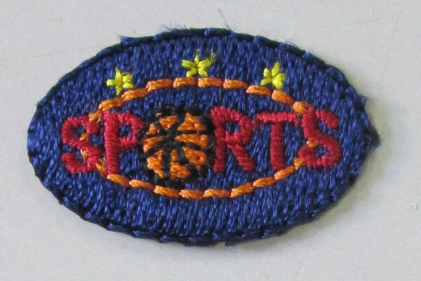 2 Applikation Sports 25 x 15 mm