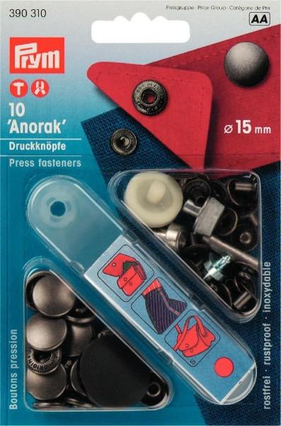 NF-Druckknopf Anorak MS 15 mm alteisen
