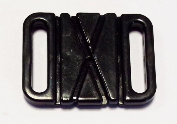 Bikini Verschluß Kunststoff schwarz 17 mm