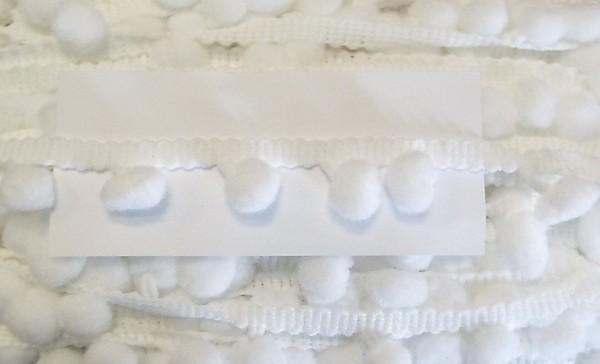 Pomponborte weiß 18 mm