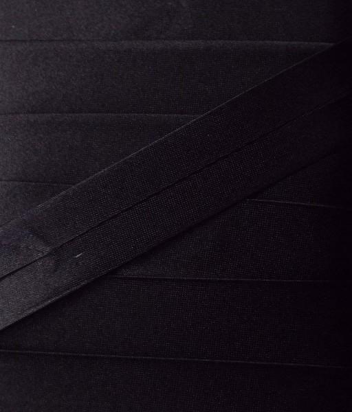 Satinschrägband schwarz 20 mm