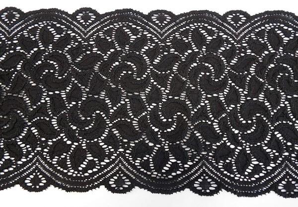Dessousspitze elastisch 14 cm schwarz