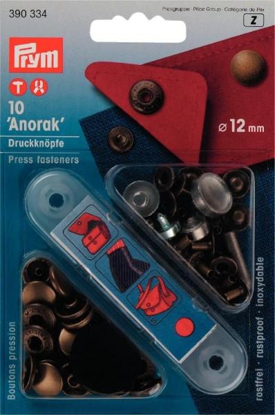 NF-Druckknopf Anorak MS 12 mm altmessing