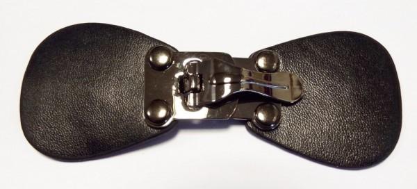 Bekleidungsverschluß schwarz / alt silber zum umklappen 105 x 40 mm