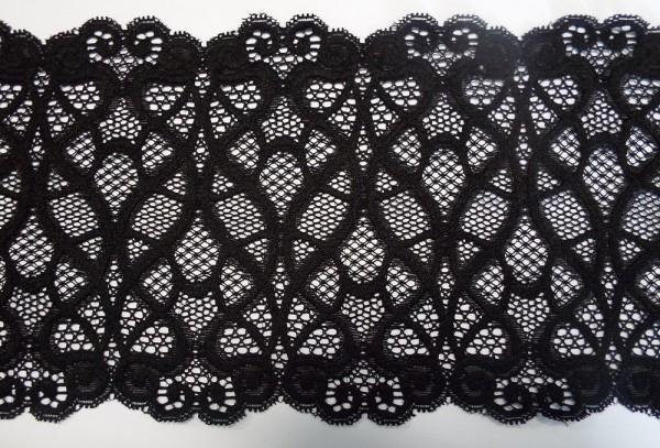 Edle Dessousspitze elastisch 13,5 cm schwarz