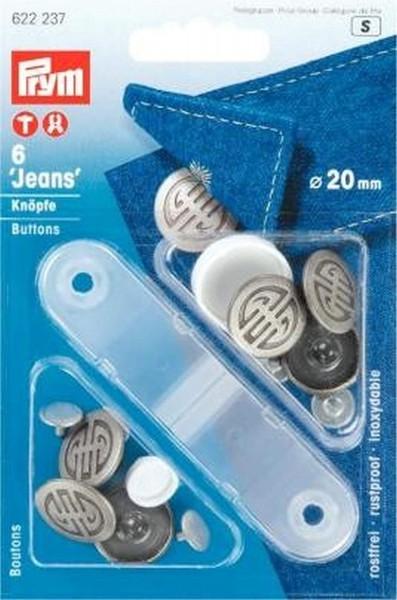 NF-Jeans-Knöpfe Artdeco MS 20 mm alteisen