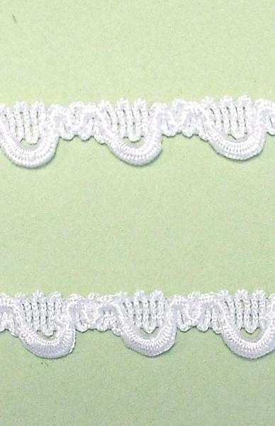 Schlaufenborte 12 mm weiß für Ganz Kleine Knöpfe