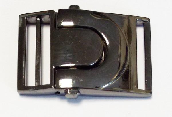 Steckschnalle 25 mm (alt silber /brüniert)