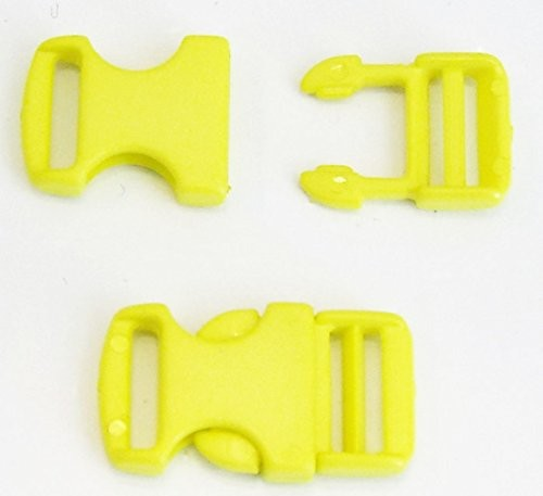 2 Steckschnallen gelb Steg 10 mm