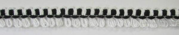 Schlaufenborte schwarz/weiß 13 mm