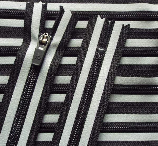 RV schwarz silber Reflektion, 012 cm Kunststoff nicht teilbar