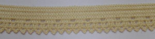 Wäschespitze elastisch 12 mm zart gelb