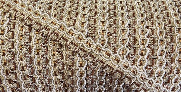 Posamentenborte braun/beige/creme 20 mm