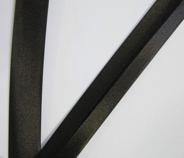 Satinschrägband tief dunkel braun 20 mm